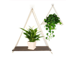 floating wood shelves for plant pots/bedroom decor FREE SHIPPING
