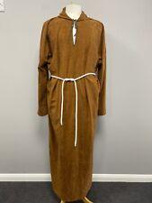 Brown Monk Uniform & Rope Belt Religious Church Fancy Dress Ex Hire Costumes