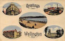 Greetings from Wellington New Zealand  Vintage views  Kelburne Tea Kiosk   QT903