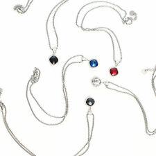 Edelstahl Halskette mit farbigen Anhänger Kette Strass-Anhänger Liebe Love Neu