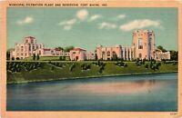 Vintage Postcard - 1943 Municipal Filtration Plant Fort Wayne Indiana #3695