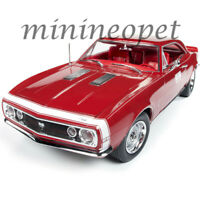 AUTOWORLD AMM1163 1967 CHEVROLET CAMARO SS HOT ROD TEST CAR 1/18 DIECAST RED