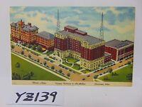 VINTAGE POSTED POSTCARD STAMP 1953 HOTEL ALMS VICTORY PARKWAY CINCINNATI OHIO OH