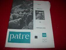 REVUE  MENSUELLE DE L'ELEVAGE OVIN    PATRE N°  142   MARS  AVRIL   1967