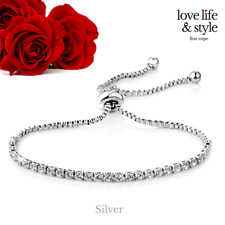 Silver Solitaire Friendship Bracelet with Crystals from Swarovski®