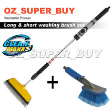 Telescopic water fed car wash brush soap dispenser + hand held flow thru BRUSH