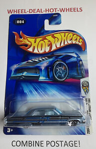 HOT WHEELS 2004 FIRST EDITIONS CHEVY IMPALA 1964 RARE COLLECTABLE NO.004 MOC!