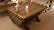 Unique stunning Vintage Rustic Trunk Box Coffee table Whiskey Barrel Oak