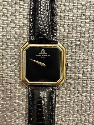 Vintage BAUME & MERCIER Dress Wrist Watch, Ref 38260, 18K Gold Case, Runs