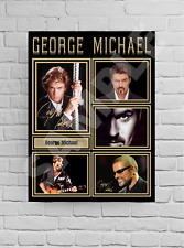 More details for george michael a4/a3 signed print - unframed/framed autograph gift #28