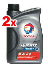 2 x Total Quarzo sintetico motore OLIO INEO ECS ECONOMICO 5W30 - 1L CITROEN
