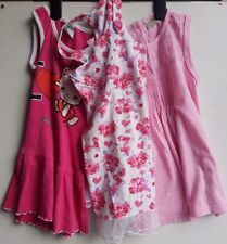 KID'S Bundle-x 3 bimba rosa assortiti abiti senza maniche età 2-3