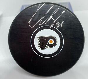 Philadelphia Flyers Claude Giroux Signed NHL Puck Fanatics Authentic Hologram