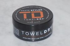 2.5 oz. TD Towel Dry Men's Grooming Paste Styler. Extra-Firm Hold. Low Shine.