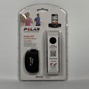NEW Polar H7 Bluetooth Heart Rate Sensor & Fitness Tracker Black Medium/XX-Large