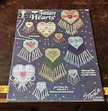 FANTASY HEARTS BY SUZANNE MCNEILL BEAD JEWELRY PATTERN FREE SHIPPING