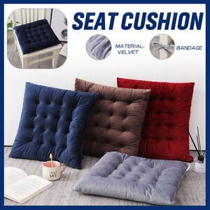 1/2X 45x45cm Sitzkissen Stuhlkissen Sitzpolster Samt Quadratisch Dekokissen Sofa