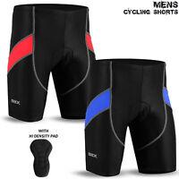 Mens Cycling Short Lycra Tights MTB Cycle Bicycle Anti-Bac Padded Black S To XL