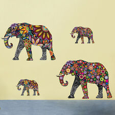 4PCS Abstract Elephant Room Wall Sticker Vinyl Decal Art Transfer Home Decor