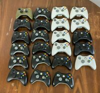 23 Microsoft 360 Wireless Controllers For Parts or Repair Broken Untested AS IS