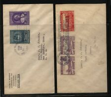 Dominican  Republic   2   nice franking   covers        KL1029