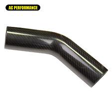"""3K Carbon Fiber Tube 45 Deg, 76mm(3"""") OD, 150mm(6"""") Leg Length, 1.5mm Thickness"""