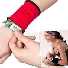 Multifunctional Wrist Band Zipper Wrap Sport Wrist Strap with Bag Pouch Wallet A