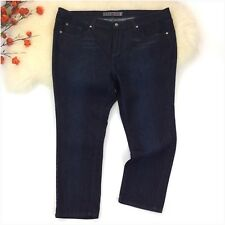SkinnyJeans 2 Women's Dark Blue Capri Cropped Jeans Size 22WP EUC