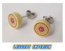 LEGO Custom Stud Earrings - Cookie / biscuit pattern - FREE POST