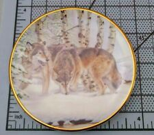 Hamilton Collection by Al Agnew Year Of The Wolf Plate Wilderness Scent 1998
