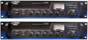 Pyle PT-610  Rack Mount 600Watt Power/Amplifier HOME/BUSINESS