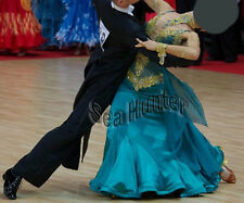 Ballroom Smooth Standard Dance Competition US6 Dress Costume #B3245 Green
