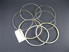 Apt. 9 Set of Seven Textured Bangle Bracelets, Silver & Gold Tones, NWT