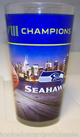 Seattle Seahawks Colored Pint Glass 2013 Super Bowl 48 XLVIII Champions