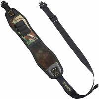 Green Gun Sling with Swivels Durable Shoulder Padded Strap Length Adjuster