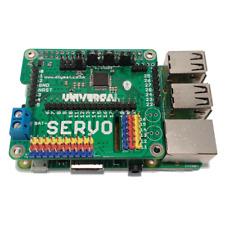 Raspberry Pi Universal Chapeau Servo/ADC/DAC/GPIO/DEL/axes Pas à Pas Moteur