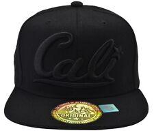 Cali Black Hat Black Brim Black Embroidered Snapback