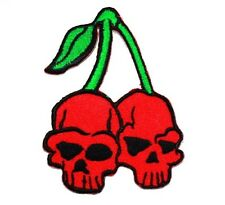 Red Cherry Skull Big Bike Harley Tattoo Racing Triumph Motorcycles Iron on patch