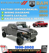 1998 1999 2000 2001 2002 Dodge RAM 1500 2500 3500 Service Repair Manual Workshop