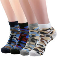 6-12 Pairs Men Women Ankle Quarter Crew Socks Cotton Stretch Camouflage Military