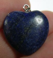#27 19.90ct Afghanistan 100% Natural Lapis Lazuli Heart Shape Pendant 3.95g 20mm