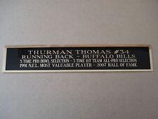 Thurman Thomas Bills Nameplate For A Football Helmet Display Case 1.5 X 6
