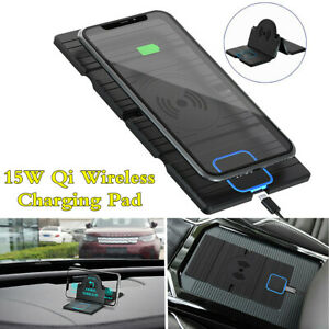 Car Qi Wireless 15W Fast Charging Dock Mat Phone Holder Silicone Non-slip Pad