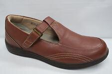 DREW LILAC T-Strap Orthopedic Shoes 11.5 M Cognac Diabetic Double Depth