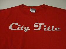Company SOFTBALL TEAM League CITY TITLE Jersey Red Fast FREE Shipping size Large
