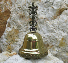 Tischglocke festlich Handglocke Glocke Gold 10 cm Weihnachtsglocke Glöckchen
