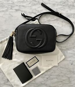 AUTHENTIC GUCCI SOHO DISCO BAG IN BLACK LEATHER RRP$1685 NEAR NEW!
