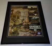 Tom Clancy Ghost Recon 2 2004 Framed 11x14 ORIGINAL Vintage Advertisement