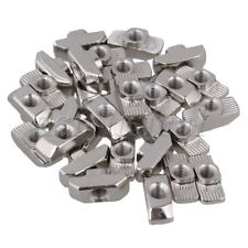 30x Hammer Head T-Nut Drop In M5 for 40 Series European Aluminum Slot Silver