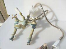 Antique Brass & Bath Mixer Taps Architectural Vintage Shower Head Old Porcelain